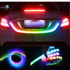 Licence Plate Led Light Bar Details About 4 Color Led Strip Tailgate Turning Signal Light Bar Trunk Strips Lamp