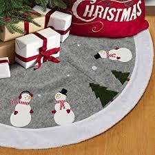 S-DEAL Nonwoven Snowmen Christmas Tree Skirt ... - Amazon.com