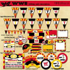 Small Picture PRINTABLE Wrestling Party Package Includes Ticket Style