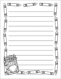 Printable Writing Paper With Crayon Border Download Them