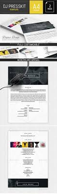 19 Best Dj Press Kit And Dj Resume Templates Images On Pinterest