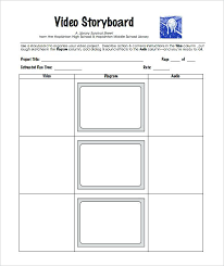 Multimedia Audio Video Storyboard Templates Template Website ...