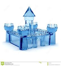 blue glass castle stock image image  royalty stock photo blue glass castle