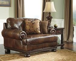 Oversized Living Room Furniture Sets Brown Genuine Leather Living Room Set Hutcherson Signature Design