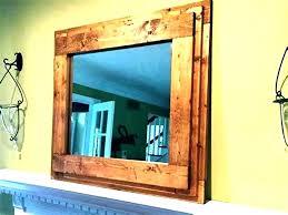 rustic wood mirror frame. Wood Framed Bathroom Mirrors Rustic Large  Mirror . Frame I