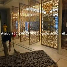 decorative metal work for hotel screen partition restaurant