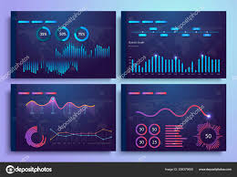 Web Design Charts Graphs Infographic Template With Flat Design Daily Statistics