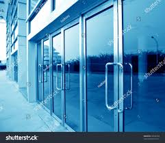 glass door for office. Glass Door Of The Office Building. For