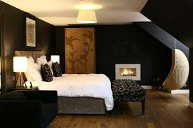 black painted walls bedroom. Perfect Bedroom Walls Painting Ideas Interior Design Bedroom Hanging Chair Fireplace Throughout Black Painted Walls Bedroom B
