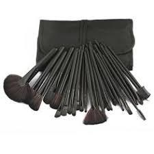 22pink 32 pcs make up tools cosmetic makeup brush set kit pouch bag case