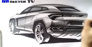 How to Draw the Lamborghini Urus SUV - autoevolution