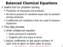 58 balanced chemical equations