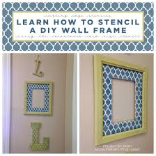 on diy wall art using picture frames with diy wall art projects using stencils