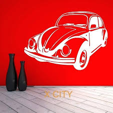 vintage car wall decor for beetle bug retro vintage classic car wall art sticker vinyl transfer