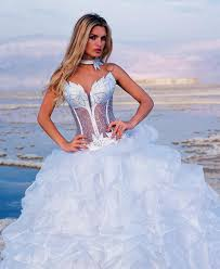 corset bodice wedding dress. strapless corset wedding dress with matching choker bodice