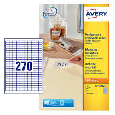avery sheet labels avery laser mini labels 270 per sheet white pack of 6750 l4730rev 25