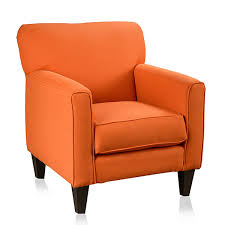 christopher knight home eli solid orange fabric track arm accent club chair ping