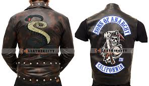 tunnel snakes rule jacket charlie hunnam sons of anarchy leather vest