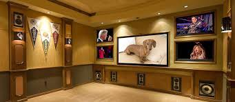 built in home sound system. custom home theater design and installation built in sound system