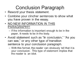 Descriptive Essay Conclusion Examples Writing A Conclusion For A Research Paper