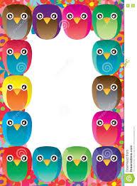 owl handmade frame stock vector  image