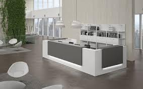 Latest modern office table design Fantastic Modern Reception Desks Reception Desk Furniture Curved Reception Desks Homedit Modern Contemporary Office Furniture
