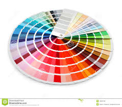 Designer Color Chart Spectrum Stock Photo Image Of