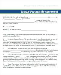 Sample Joint Venture Agreements Templates General Partnership ...