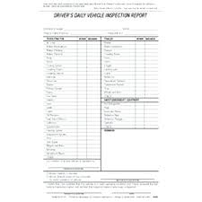 Daily Truck Inspection Report Template Vehicle Inspection