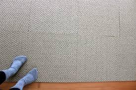 flor carpet tiles in dining room