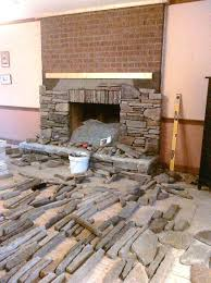 installing stone veneer over brick fireplace how to install