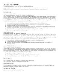 Security Officer Qualifications Resume Security Guard Resumes