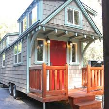 Small Picture Man Builds Mobile Tiny Cottage with Front Porch Photo Dormers a
