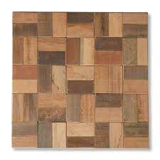 12 X 12 Decorative Tiles Natural Wood Mosaic Square 100 x 100 in Teakwood Wall Tile Set of 66