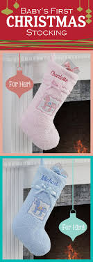 Awww these baby stockings are so cute! Perfect for baby's first Christmas!!  #