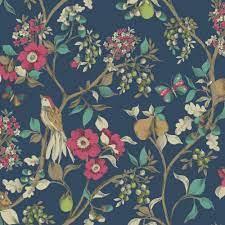 Damsen by Albany - Navy : Wallpaper ...
