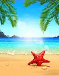 beautiful beach design free vector