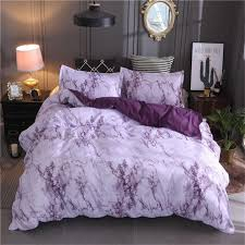 purple marble bedding set purplewhite duvet cover bed twin white sets bath and b