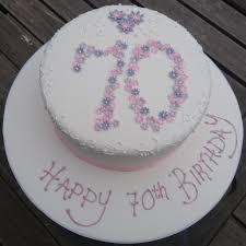 70th Cake Designs Simple Floral 70th Birthday Cake Geraldine Horton Flickr