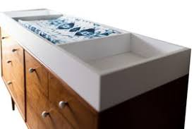 Zoom image Changing Table Topper Bertu Baby Contemporary, Wood, Tray by - Contemporary Trays Dering Hall