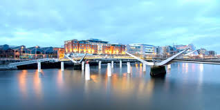 dublin office. Dramatic Bridge Over The Liffey Dublin Office