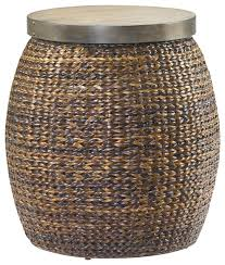 treasures round accent basket table 090 380