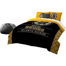 boston bruins bedding for kids nhl 3pc comforter set black bed in bag full queen