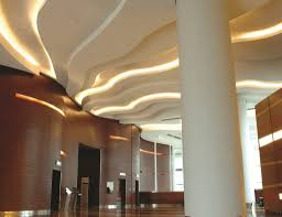 home led accent lighting. White Accent Ceiling Lighting In A Lobby Home Led