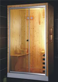 mer 9014 very simple complete sauna cabin room with glass door mer