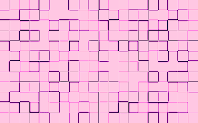 a square grid pattern of pink tile shapes