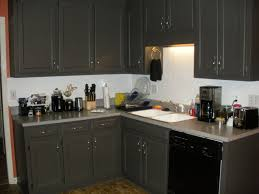 Painted Black Kitchen Cabinets Grey Kitchen Cabinets With Black Appliances Outofhome