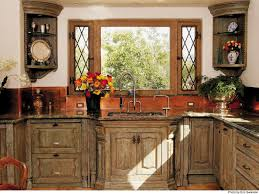 Handmade Custom Kitchen Cabinets By La Puerta Originals Tiny Brown