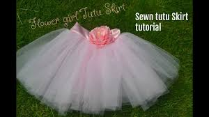 flower girl tutu skirt sewn method