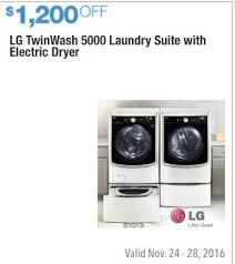costco washing machines prices. Contemporary Machines Costco Wholesale Black Friday LG Twin Wash 5000 Laundry Suite With  Electric Dryer  1200 For Washing Machines Prices S
